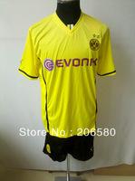 Free shipping,13/14 season top quality Borussia Dortmund home yellow soccer jersey