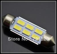 Free Shipping 6SMD festoon 5630or5730 36mm/39mm/41mm white car led light number plate dome car light lamp bulb 12V