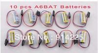 10 PCS A6BAT PLC Lithium Battery 3.6V For Mitsubishi Servo A6BAT ER17330V      freeshipping