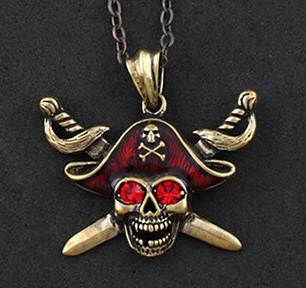 Min Order $15(mix order) Pirates of the Caribbean Pendant Necklace Vintage Gothic Punk Style Women And Men Jewelry