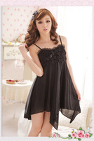 Summer female sexy charming spaghetti strap viscose princess nightgown decoration lace nightgown