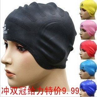 Soft silicone gel swimming cap earmuffs waterproof ear protector male female swimming cap