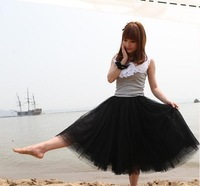 Princess Puffy Skirts 5  Layers Fashion Clothes Ladies Girls' Skirt Tulle Skirt Bouffant Long Skirts