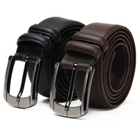 2014 Free shipping Men's fashion cowhide genuine leather brief hot slaes belt male strap quality mens belt Ceinture Buckle MD19