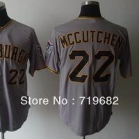 Free Shipping Pittsburgh #22 Andrew McCutchen Men's Baseball Jersey,Embroidery and Sewing Logos,Size M--3XL,Accept Mix Order