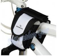 0.8L Waterproof  Saddle bike bag cycling bag mountain bike front tube Bicycle Double Bag