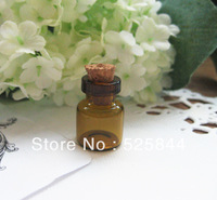 Free shipping 50pcs/lot 13*18mm tiny Cork Glass Bottles with Eyehook  for creative gifts/Vials bottle gifts DIY