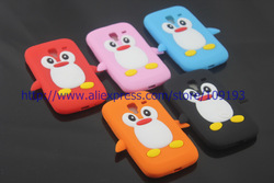 For Samsung Galaxy Ace 2 i8160,Cute 3D Penguin Silicon Soft Back Cover Skin Case 1pc/lot by china post airmail(China (Mainland))