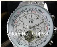 Mens Luxury 100% High Quality All Steel AUTO Mechanical Tourbillon Watch CHRONO     free shipping