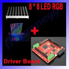 Full color 8 8 LED RGB Matrix Dot Screen Module Driver Board for Arduino FZ0455 Free