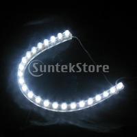 Free Shipping 24cm Flexible Car 24-LED Strip Light- White