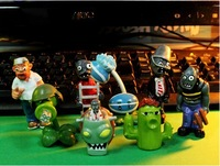 Free Shipping EMS 10/Lot 8pcs Game Plants vs Zombies PVC Figure Toy #2 Wholesale