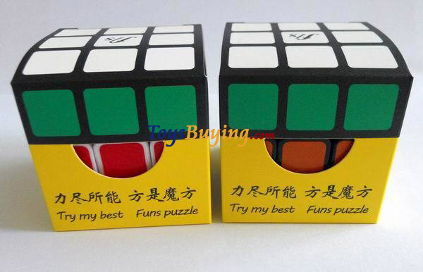 wholesale 200pcs/lot 2013 New Arrival 5.7cm Funs Puzzle Fangshi Shuang Ren 3x3 Magic Cube super quality +Fedex/DHL FREE SHIPPING(China (Mainland))