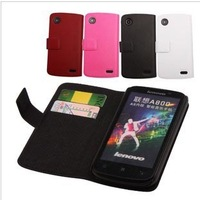 Hot sale, top quality genuine leather case for lenovo a800 protective case for lenovo a800 free shipping