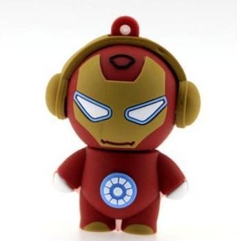 Free Shipping Wholesale cheap enough hot u disk personality Pop Iron Man model 4GB 8GB 16GB 32gb USB flash drive 10pcs/lot
