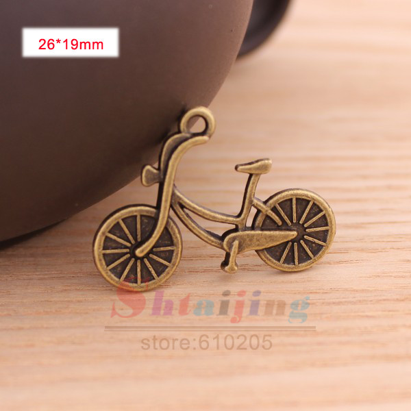 New Arrival Wholesales Fit Necklace Antique Bronze Vintage Charms Bicycle Model Charms Jewellery findings and components(China (Mainland))