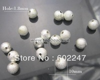 Free shipping! Frost Copper Spacer silver beads 50pcs/lot