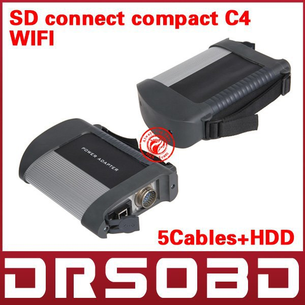 Professlional newest MB STAR C4 MB SD connect compact 4(China (Mainland))