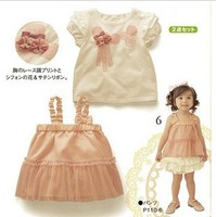 Free shipping 2013 summer lovely Baby wear  baby clothing set baby suit