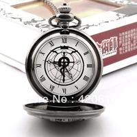 Fashion Anime Cosplay New Full Metal Alchemist Pocket Watch Edward Elric Anime Cosplay Gift Free Shipping