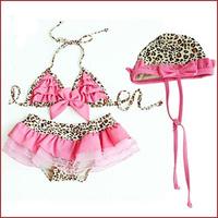Free shipping New fashion three piece swimwear swimming suit girl Bikini for 1-8 years old children