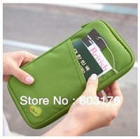 Free Shipping Travel Storage Bag Portable Credit Card Holder Ticket Wallet
