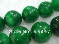 "12MM Green Emerald Round   Loose Bead 15"" AG45 Fashion jewelry"