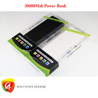 Hotsale New 30000Mah Power bank extra battery for iPhone5 iPad Samsung HTC backup charger with 8 ports converter, Free FEDEX