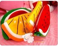 Free shipping Plush cartoon Wallet watermelon orange day clutch 2013 mobile phone bag fashion beautiful bags