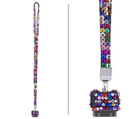 fashion popular crystal Rhinestone Lanyard wholesale