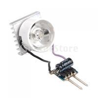 Free Shipping MR16 3W White LED Light Bulb + Lens + Power Driver + Heat Sink
