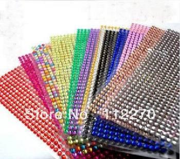 12sheets Free shipping acrylic rhinestone phone sticker crytal diamond  adhesive car sticker DIY accessory