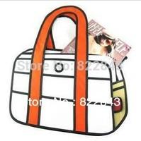 Hot sale 2014 Cartoon Bag Fashion 3D bags Laptop bag Free Shipping 2d jump cartoon paper bag, drop shipping