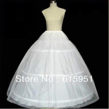 New Arrival Petticoat Crinoline 3-Hoop-1Layer BRIDAL dress PETTICOAT/CRINOLINE UNDERSKIRT Bridal Accessories JY0001