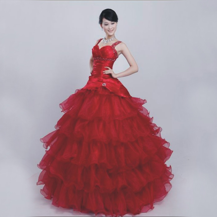 2012 Wine classic red bandage spaghetti strap wedding dress hs0148 Free shipping(China (Mainland))