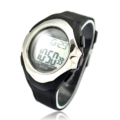 Motion Plus Heart Rate Monitor Watch - Silver(China (Mainland))