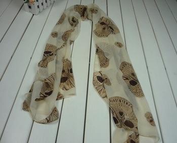 Beige Cool skull scarf Ladies Women elegant charming amazing Scarf Shawl SA035C Free shipping Drop shipping 2014