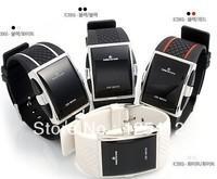 2013 50pcs/lot  4 colors Mix Men's LED display Sport red light LED watch