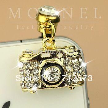 Ip135c Best Selling Luxury Crystal Camera General Mobile Phone Anti Dust Plug