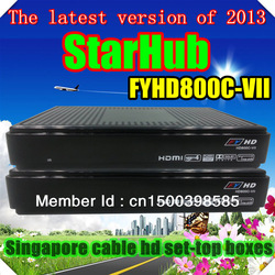 Original! 2013 Latest FYHD 800c cable FYHD800C-VII TV Receiver FYHD800C for Singapore StarHub Channel with Key Pre-installed(China (Mainland))
