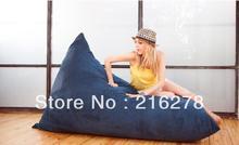 Wholesale NAVY BLUE Pivot Bean Bag Chair, lazy indoor beanbag sofa seat, adults sitting beanbag lounger - free shipping(China (Mainland))