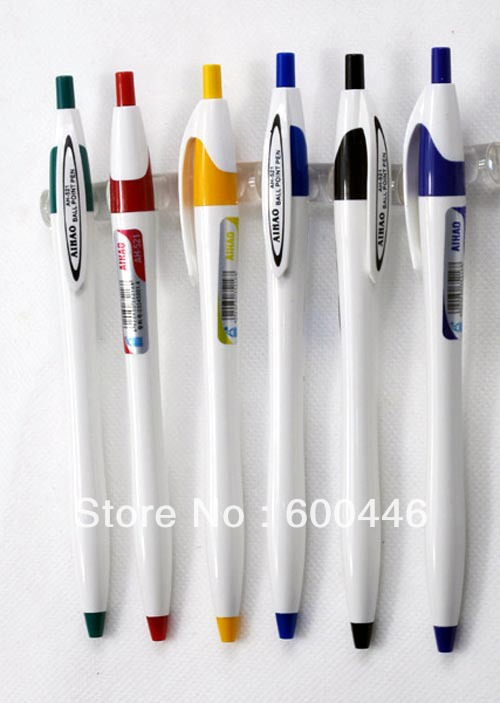 free shipping classic Ah-521 ballpoint pen supplies blue ballpoint pen refills blue,smooth writing ,80pcs/lot(China (Mainland))