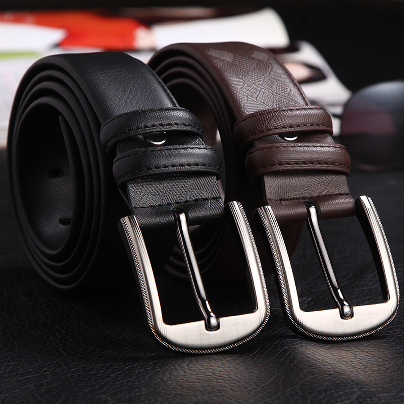 Jamresvck genuine leather fashion tile male genuine leather strap casual cowhide belt hy07(China (Mainland))