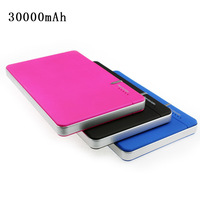Hot sale 30000mAh  Portable Power pack Mobile Charger Power Bank Indicator light for Iphone/Samsung/Nokia/Netbook-FreeShipping