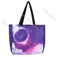 Fashion Space Universe Pattern Bucket Tote Shopping Bag women Handbag casual Shoulder Bags12221