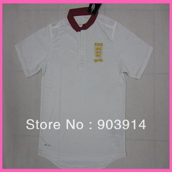 2014 Factory Price Printed Logo England Training Tops,Original Quality England White Soccer Tops,Thai Quality,Free Ship(China (Mainland))