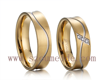 2013 gold plated engagement rings jewelry(China (Mainland))