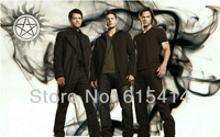 """01 Supernatural Sam Dean Winchester Castiel 22""""x14""""  wall Poster with Tracking Number"""