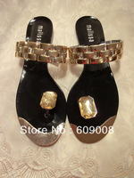 2013 new design Europe brands peep-toe sandals,jelly shoes,Clip toe slippersFREE SHIPPING