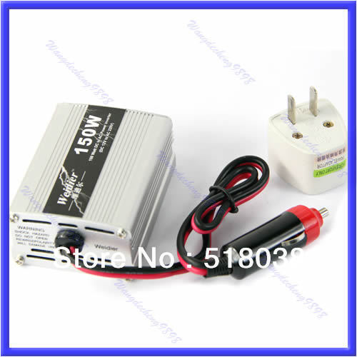 Free Shipping New 150W DC 12V to AC 220V Auto Car Inverter USB Power Supply Adaptor Converter(China (Mainland))